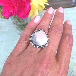 Mookaite Jasper 925 Ring